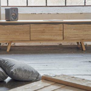 KAWOLA Lowboard CHUCKIE 2 Türen 1 Schublade Eiche (B/H/T) 180x45x52cm