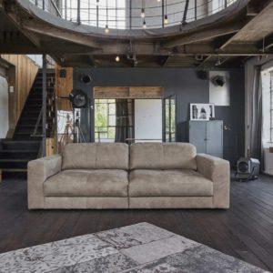 Sofa Ledersofa GIGANT 4-Sitzer 295cm Leder taupe