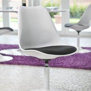 Tenzo Stuhl / Drehstuhl Viva - Schwarz - Weiß