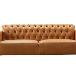 SIT Sofa Recyceltes Leder braun - DESERT