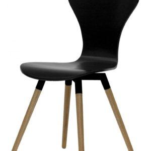 Tenzo Stuhl TEQUILA RIFI schwarz / eiche 4er Set 9123-854