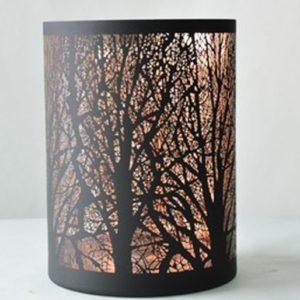 KARE Windlicht Earth Motiv Wald 18x24x18cm