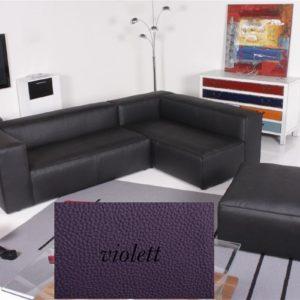 Ecksofa - Sofa Het Anker Leder Toledo violett Recamiere rechts Summer