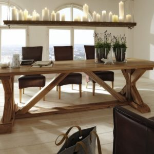 KAWOLA Esstische SAILA Tisch Eiche massiv 220x110cm