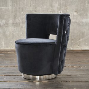 KAWOLA Sessel SENSO Stoff Velvet schwarz
