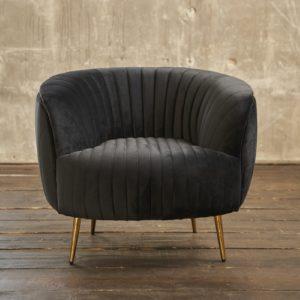 KAWOLA Sessel NORLO Polstersessel Stoff velvet schwarz