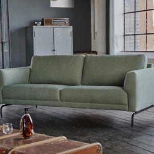 KAWOLA Sofa EDISON 3-Sitzer Stoff grün
