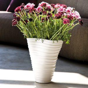 KARE Vase Wrinkle - 32 cm - White