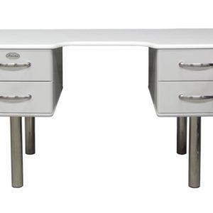 Tenzo Schreibtisch Malibu 5253 - 4 Schubladen weiß