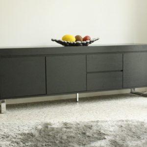 Tenzo Sideboard Scala – 3 Türen / 2 Schubladen – Dunkelbraun