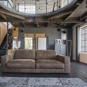 Sofa Ledersofa GIGANT 3,5 Sitzer Leder dunkelbraun