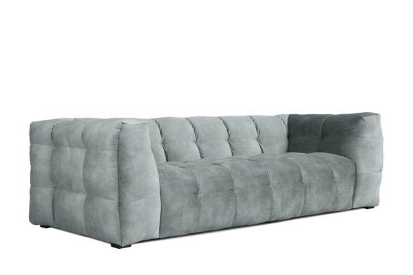 KAWOLA Sofa ROSARIO 3-Sitzer Stoff light blue