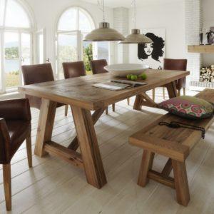 KAWOLA Esstisch REZE Tisch Eiche massiv 200x100cm