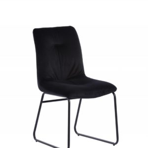 KAWOLA Set 2xStuhl ZITA Esszimmerstuhl Velvet schwarz