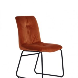 KAWOLA Set 2x Stuhl ZITA Esszimmerstuhl Velvet orange