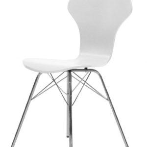 Tenzo Stuhl TEQUILA NIPO weiß / chrome 4er Set 9131-801