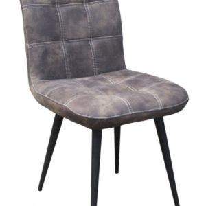 2x Stuhl Senta Esszimmerstuhl Kunstleder grau