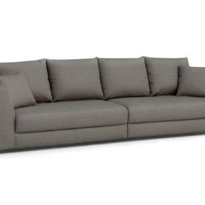KAWOLA Big Sofa MERA XXL-Wohnlandschaft Stoff grau