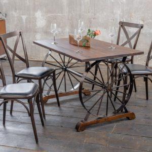 KAWOLA Essgruppe Tisch REFINA und 4x Stuhl KINE