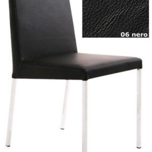 KFF Spring Nova High, Gestell Chrom - Leder - Nero 06