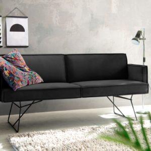 KAWOLA Esszimmerbank JASPER Stoff Velvet black 176cm