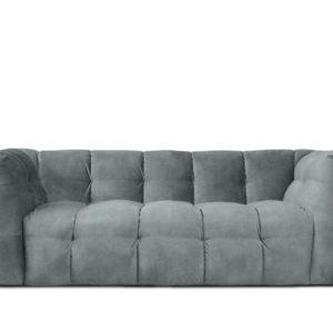 KAWOLA Sofa ROSARIO 2-Sitzer Stoff light blue