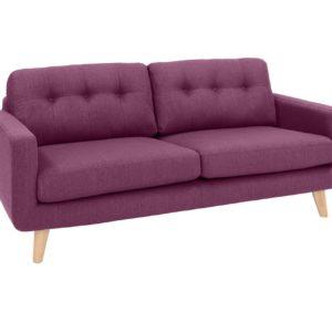 KAWOLA 3-Sitzer ALEXO Sofa Stoff rosa