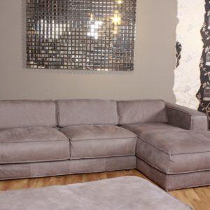 Big Sofa CASANDRA Ecksofa Polsterecke Leder Toro grey
