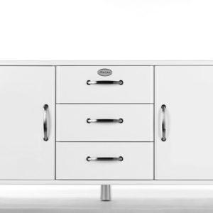 Tenzo Sideboard Malibu 5176 - 2 Türen/3 Schubladen weiß