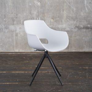 KAWOLA Stuhl ZAJA Esszimmerstuhl Kunststoff drehbar weiß
