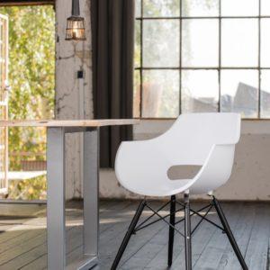 KAWOLA Stuhl ZAJA Esszimmerstuhl Kunststoff weiß