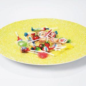 KARE Design Schale Mosaico - 38 cm - Gelb