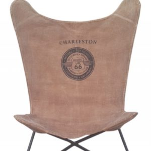SIT Stuhl Butterfly Sessel Bezug Canvas braun