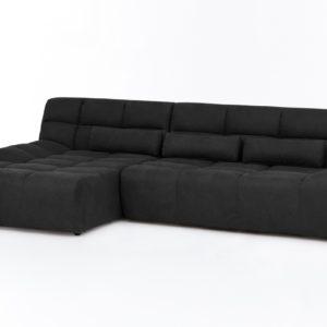 KAWOLA Ecksofa SETO Big Sofa Recamiere links Microfaser anthrazit
