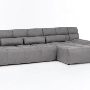 KAWOLA Ecksofa SETO Big Sofa Recamiere rechts Microfaser grau
