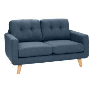 KAWOLA 2-Sitzer ALEXO Sofa Stoff blau
