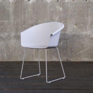 KAWOLA Stuhl GISY Esszimmerstuhl Kunststoff weiß