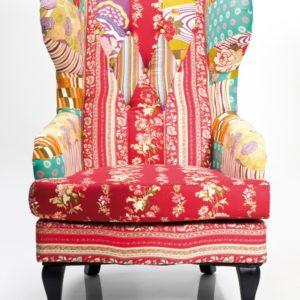 Kare Design Patchwork Sessel Textil bunt - Ohrensessel