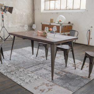 KAWOLA Esszimmertisch KELIO Tisch 140x80cm Holz/Metall