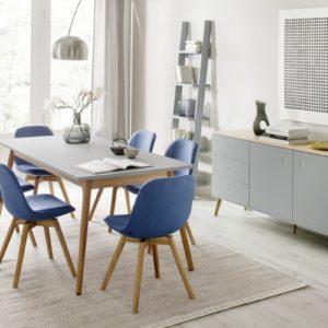 Tenzo Esstisch DOT Tisch 180x90cm grau/Eiche