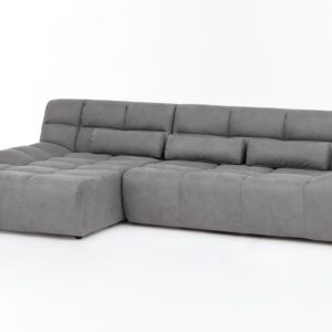 KAWOLA Ecksofa SETO Big Sofa Recamiere links Microfaser grau