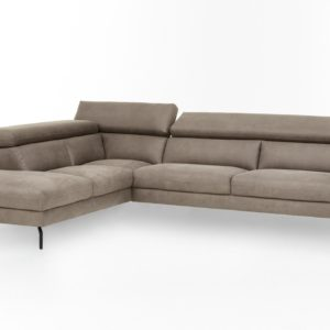 KAWOLA Ecksofa CALINA Sofa Recamiere links Microfaser beige
