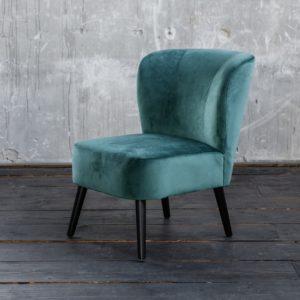KAWOLA Sessel MINGO Bezug Velvet grün