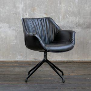 KAWOLA Stuhl MINO Esszimmerstuhl Drehstuhl Besprechungstuhl schwarz