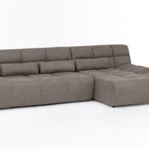 KAWOLA Ecksofa SETO Big Sofa Recamiere rechts Microfaser graubraun