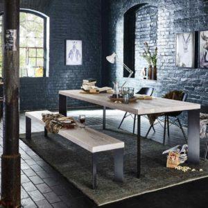 KAWOLA Esszimmertisch ANTU Tisch Eiche Massiv 180x100cm