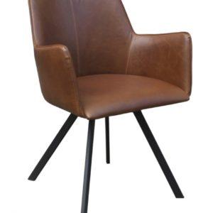 6x Stuhl Charles Esszimmerstuhl Kunstleder braun