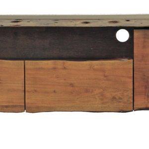 KAWOLA TV-Board mittel Lowboard Loft Edge Akazie Massiv-Holz Baumkante B/H/T: 150x50x40cm