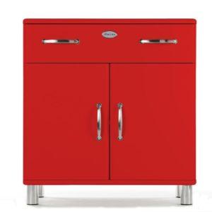 Tenzo Kommode Malibu 5127 - 2 Türen / 1 Schublade - Rot