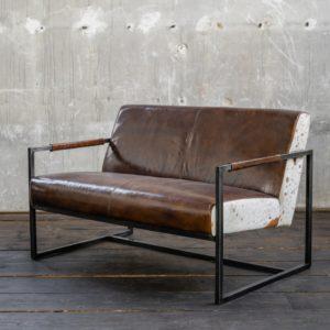 KAWOLA Sofa LIANO Vintage Leder braun